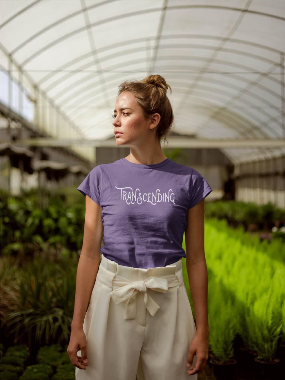 AwakeNAware.com-Awake-&-Aware-Girl-in-Green-House-Wearing-Transcending-Goddess-TShirt
