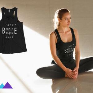 AwakeNAware.com-Awake-&-Aware-White-Yoga-Woman-In-Lotus-Pose-Wearing-Black-Just-BE-Tank-Top (1)