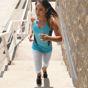 AwakeNAware.com-Awake-&-Aware-Woman-Jogging-Wearing-White-Geometric-Yoga-Pants