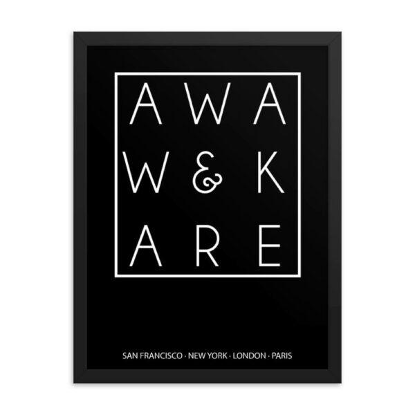 AwakenAware.com Awake & Aware Magic Square Framed Poster Wall Art Mockup 18x24