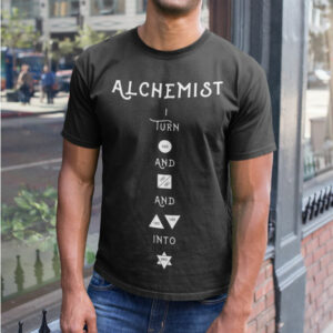 AwakenAware.com-Awake-&-Aware-mockup-of-a-happy-bald-man-wearing-an-alchemist-t-shirt-on-the-street-a18228