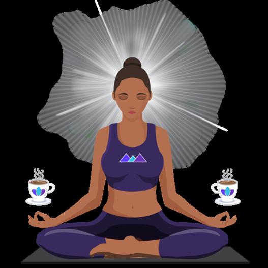 AwakenAware.com-Awake-&-Aware-Enlightened-Coffee-Yogi-Avatar---Midnight-Blue