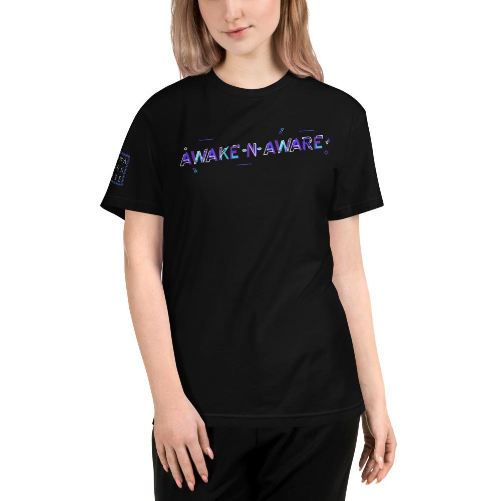 AwakeNAware.com Awake & Aware Multidimensional Tee Female Model Front