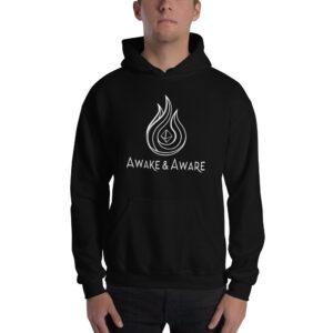 AwakenAware.com-Awake--Aware-Unisex-Hoodie_mockup_Front_Mens_Black