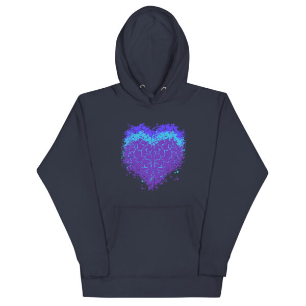 Awakenaware.com Awake & Aware Heart-Mind Aligned Hoodie-Blue